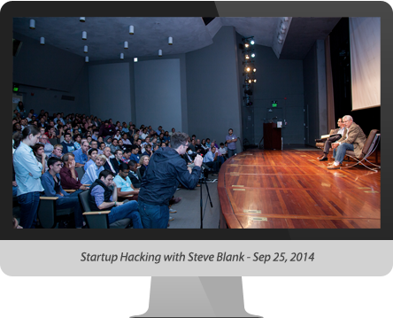Startup Hacking with Steve Blank